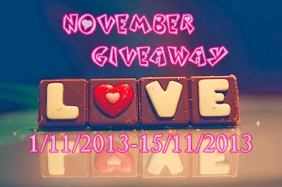November Giveaway by Cik Yaya.