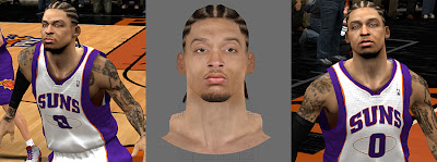 NBA 2K13 Michael Beasley Cyber face Patch