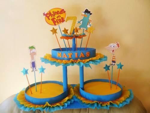 MuyAmeno.com: Centros de Mesa con Phineas y Ferb, parte 2