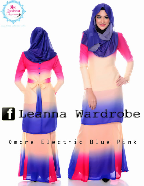 Ombre Electric Blue Pink