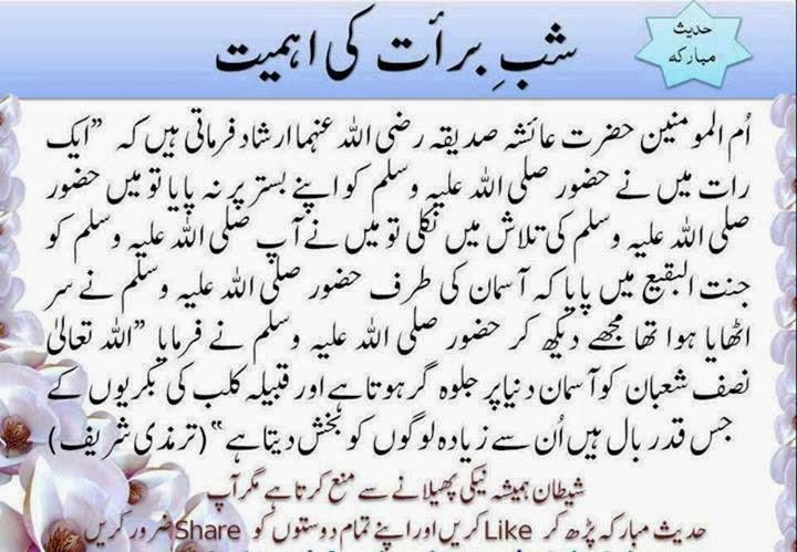 Hadees Urdu Shab e Barat Shab e Barat in Urdu by Hadees