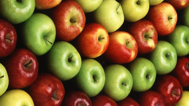 Different Colorful Apples