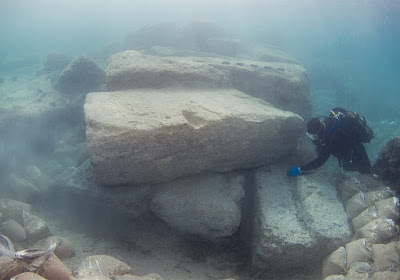 Submerged ancient harbour town of Lechaion excavated