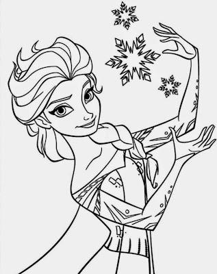Desenhos para Colorir Frozen