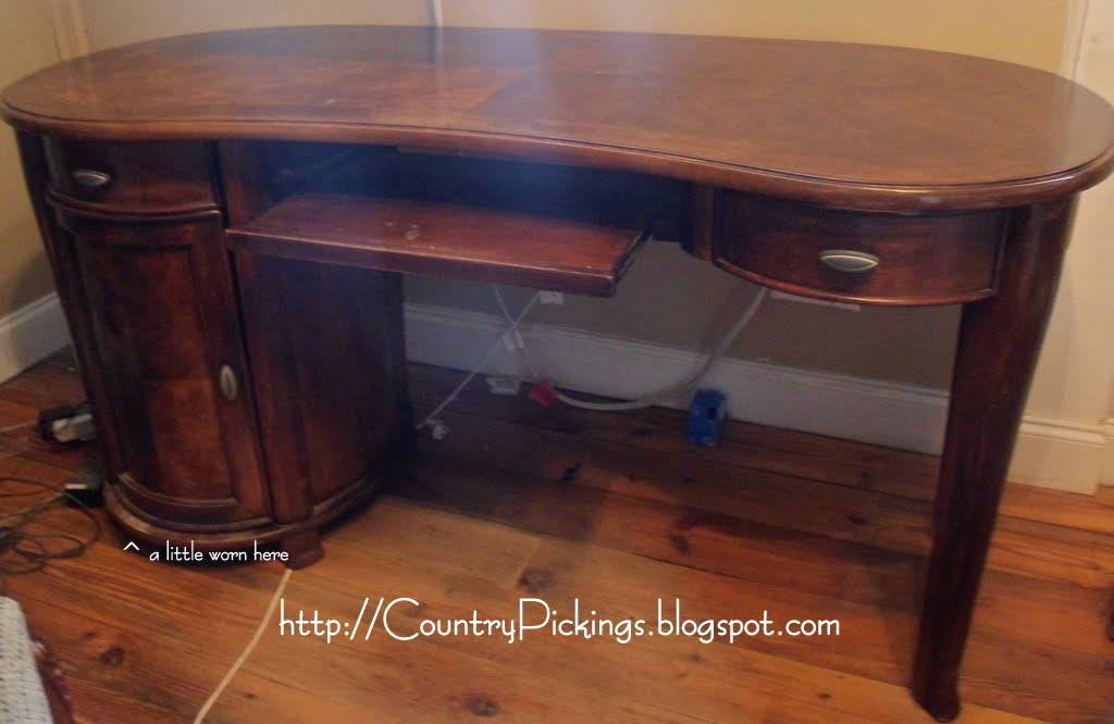Country pickings - Kidney shaped office desk ...