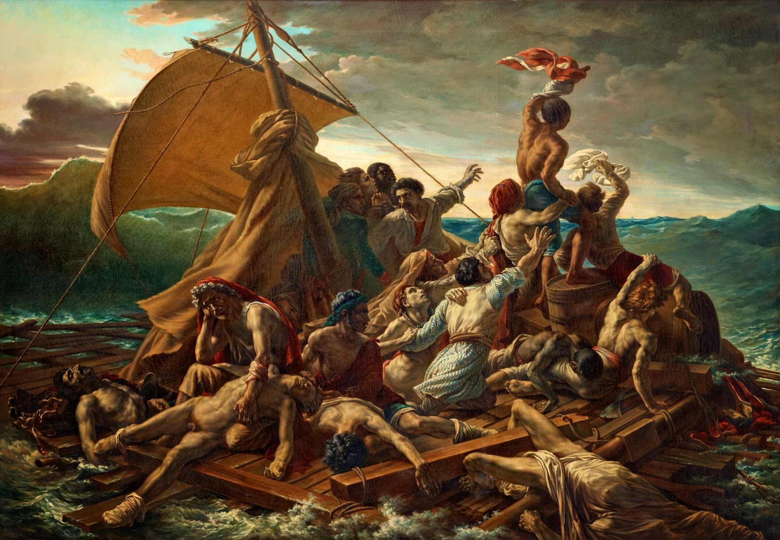 the raft of medusa The massive oil on canvas painting is entitled the raft of medusa and was  painted by the french romantic painter, théodore géricault in.
