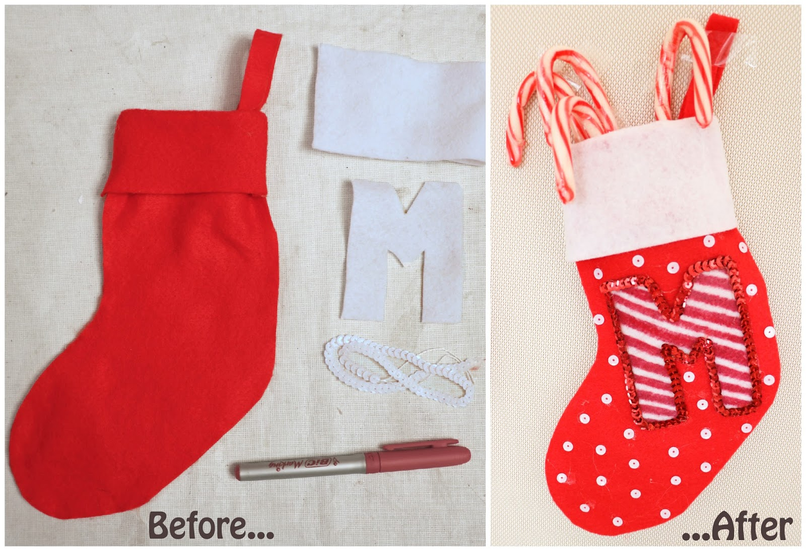 Decorate your stocking this year with a personalized monogram! Click through for full tutorial