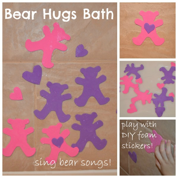 Valentine's Day Bath: Bear hugs bath