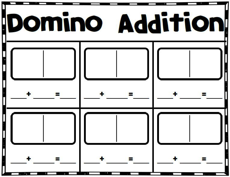 Number Names Worksheets domino math worksheets Free Printable – Domino Math Worksheets First Grade