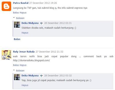 komentar blog, facebook