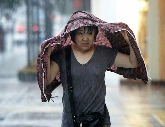 То ли прогноз погоды никогда не ошибается, то ли корейцы всегда-всегда таскают в сумке зонтик, но корейца невозможно застать врасплох дождем.