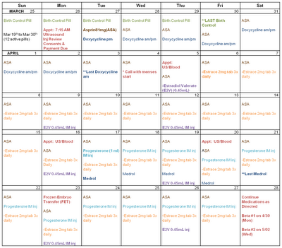 Clomid and provera schedule