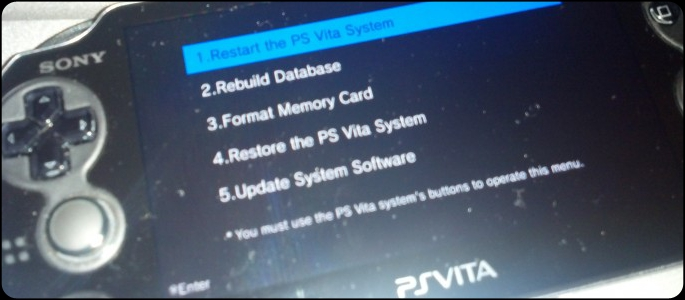 how to fix corrupted data on ps vita