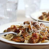 Spicy Sausages and Linguine