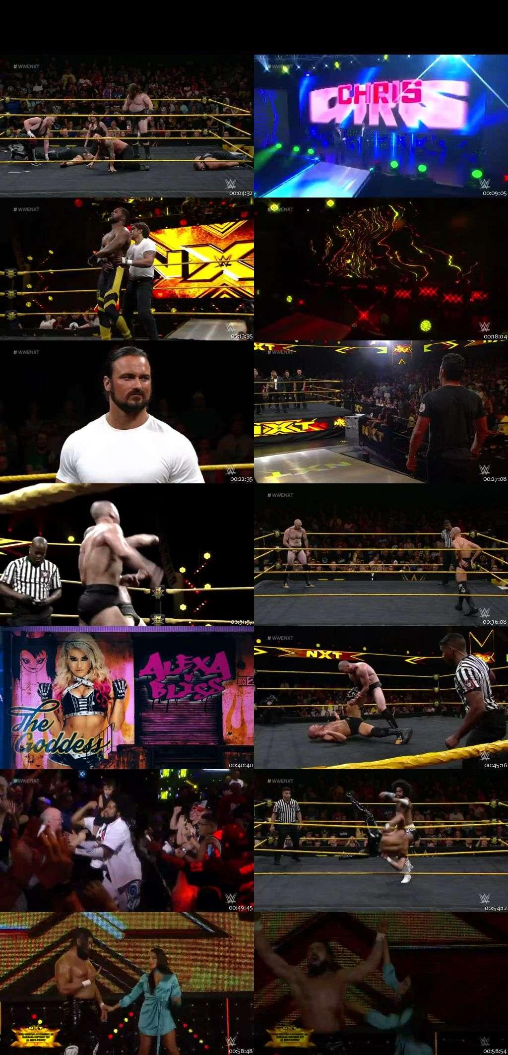 Screen Shot Of Wrestling TV Show WWE NXT 9th August Watch Online Free Download