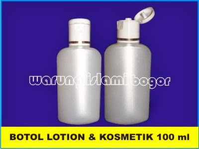 Botol Lotion & Kosmetik Gepeng Oval 100ml dengan tutup fliptop Strip