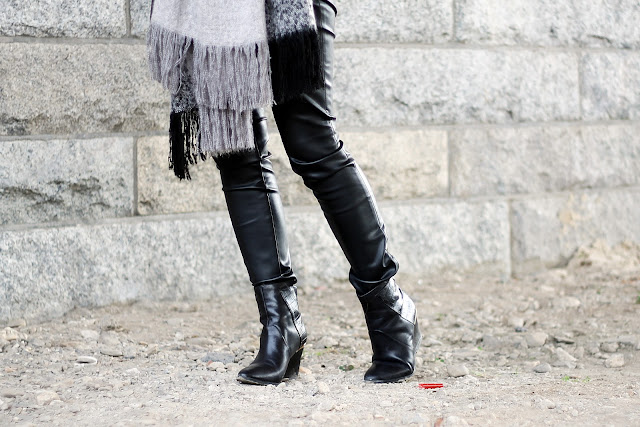 ankle boots and leather pants