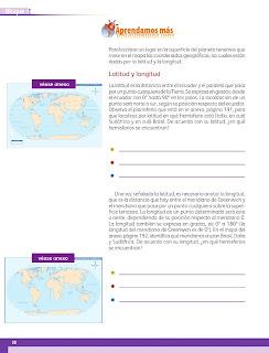Apoyo Primaria Geografía 5to grado Bloque I Lección 4 ¿Cómo localizo?