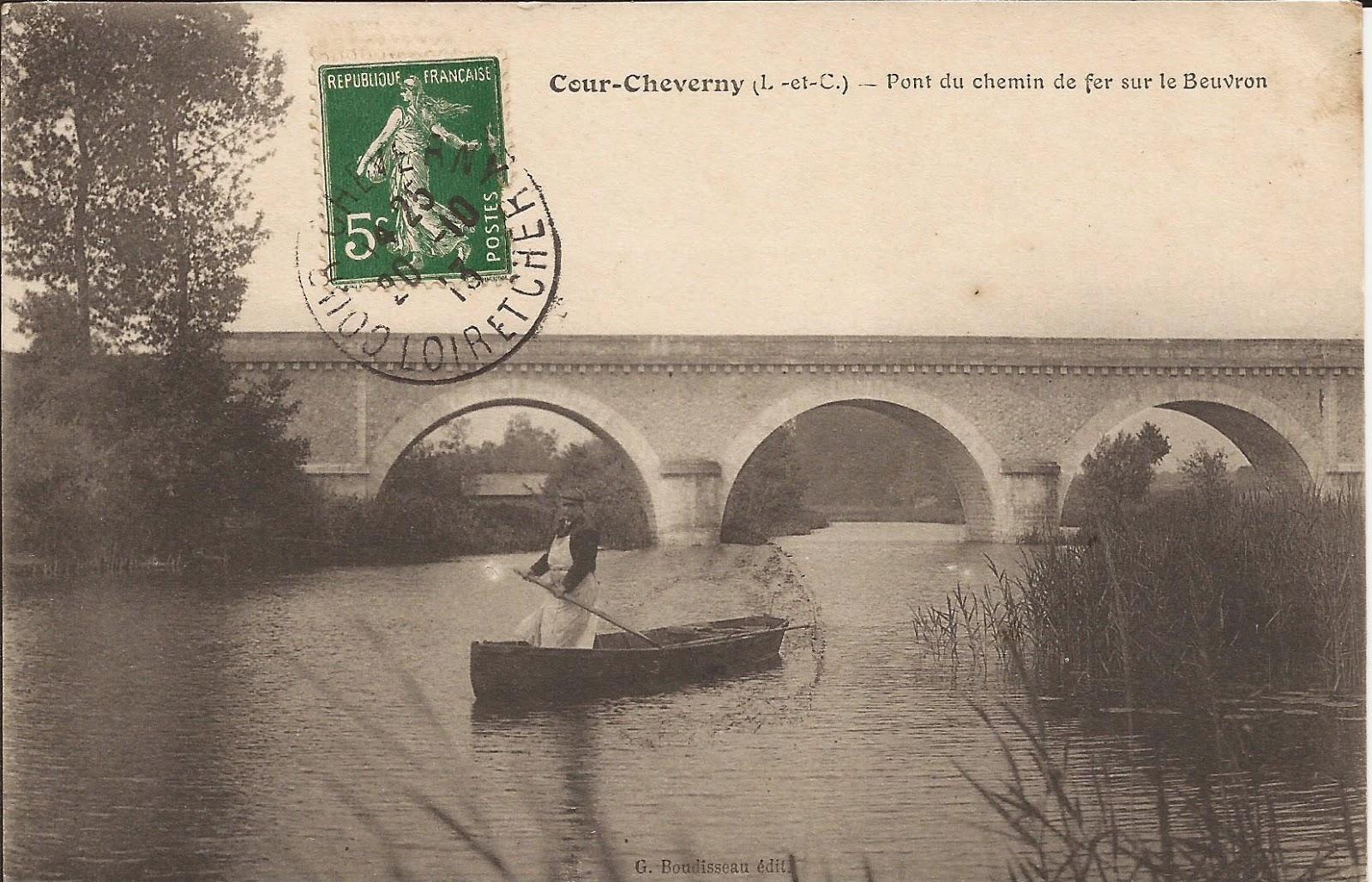 Pont du chemin de fer sur le Beuvron - Cour-Cheverny