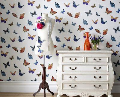 De andar por casas lunares y mariposas - Papeles pintados de los 70 ...
