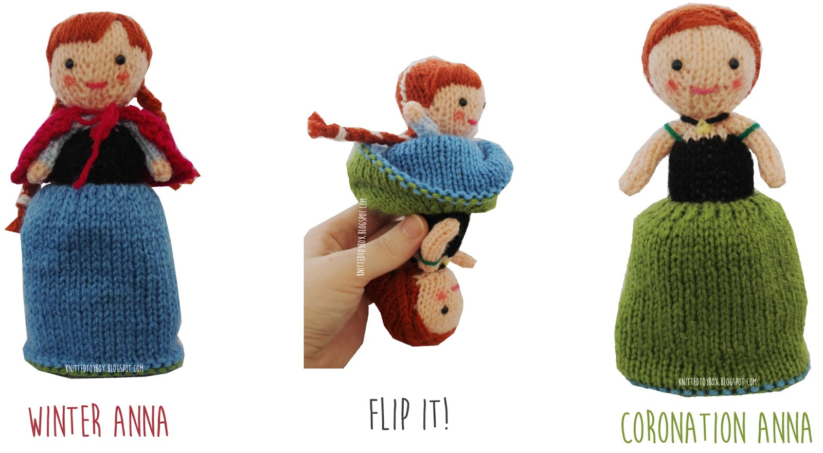 Knitted Toy Box: Anna Frozen Flip Doll