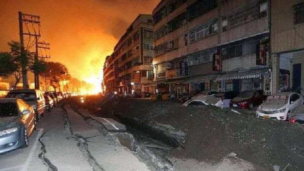 Kebocoran Gas di Kaohsiung Menewaskan 22 Orang dan 271 Orang Luka-Luka