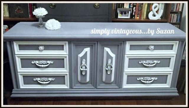 annie, sloan, lavender, creating custom colors,before, after, makeover,dresser