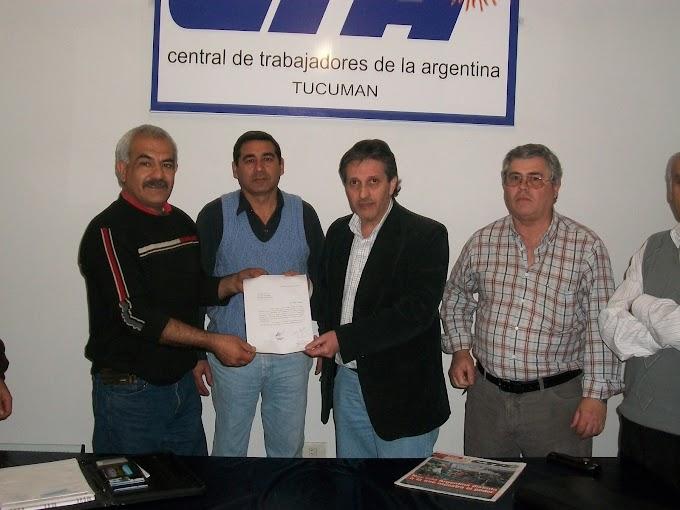 Nueva organización sindical de trabajadores se incorporó a la CTA Tucumán
