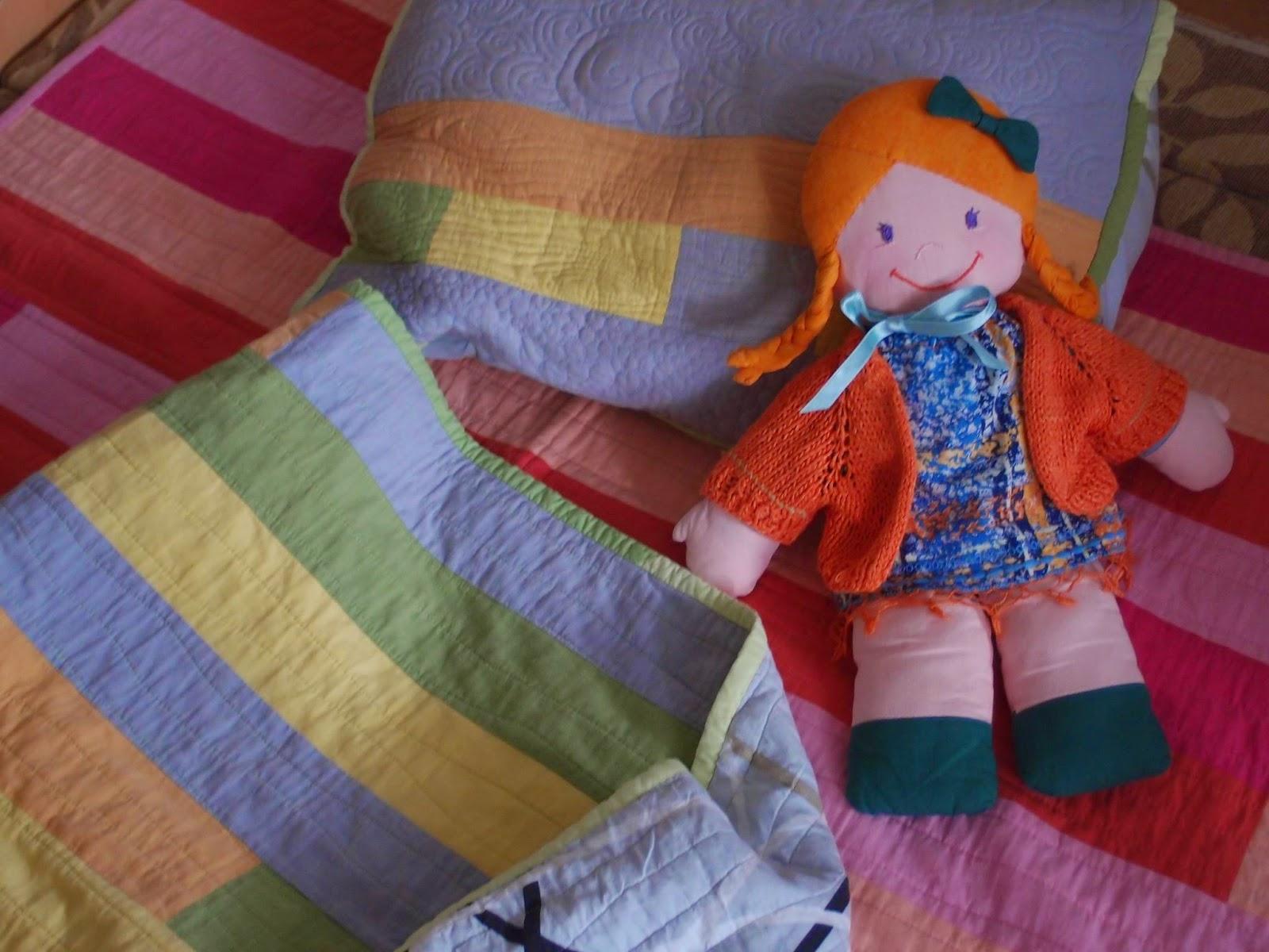 Пачурк з апостелка, пачуърк за завивка, пачуърк за възглавница и кукла за разкош