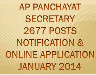 APPSC Panchayat Secretary  District Wise, Cast Wise Vacancies List 2014 Online application at www.apspsc.gov.in