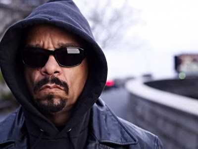 Ice-T in a classic rapper pose