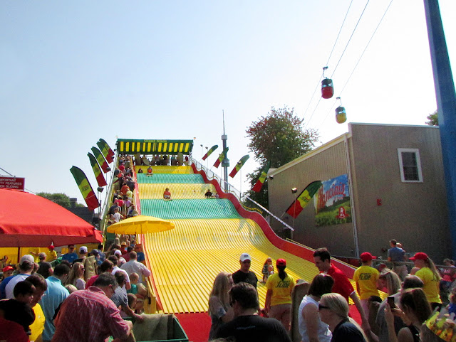 Giant slide at the State Fair