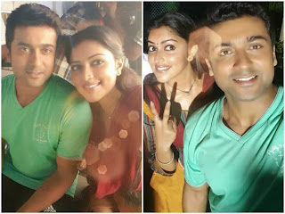Surya_and_AmalaPaul_at_Haiku_movie_shooting_spot_latest_stills_Selfie_pics