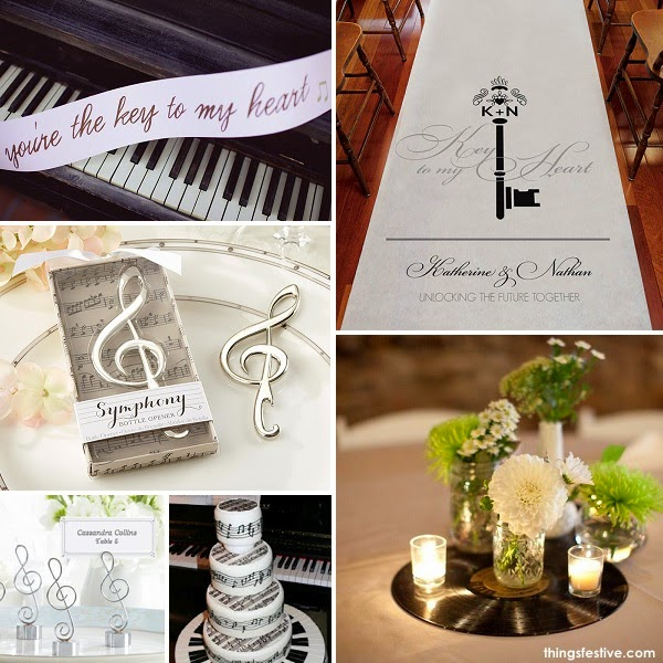 A Music Inspired Wedding Theme Will Encourage Guests To Dance The Night  Away At Your Reception. Piano Keys, Music Notes And Vinyl Records Are Ideal  ...