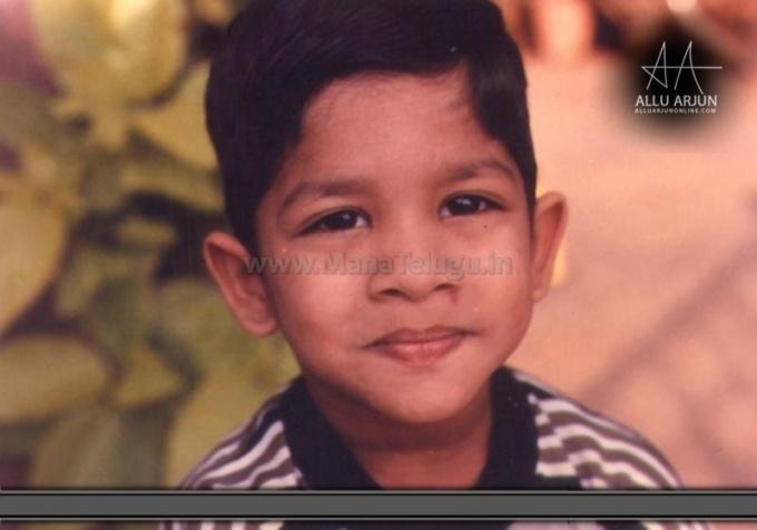 Allu Arjun Childhood Photo when he was 7 years old