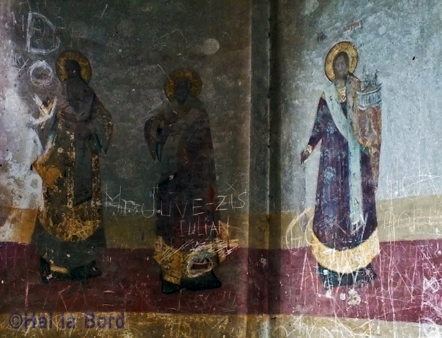 picturi pe perete biserica ruina gostinari