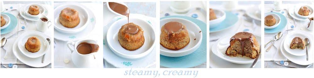 steamy, creamy...