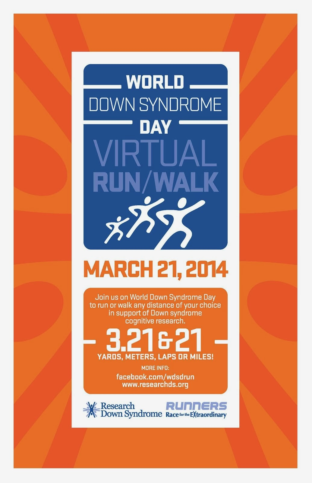 World Down Syndrome Day Virtual Run/Walk