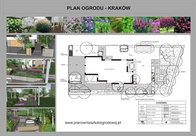 Ogród nowoczesny Agnieszka Hubeny-Żukowska