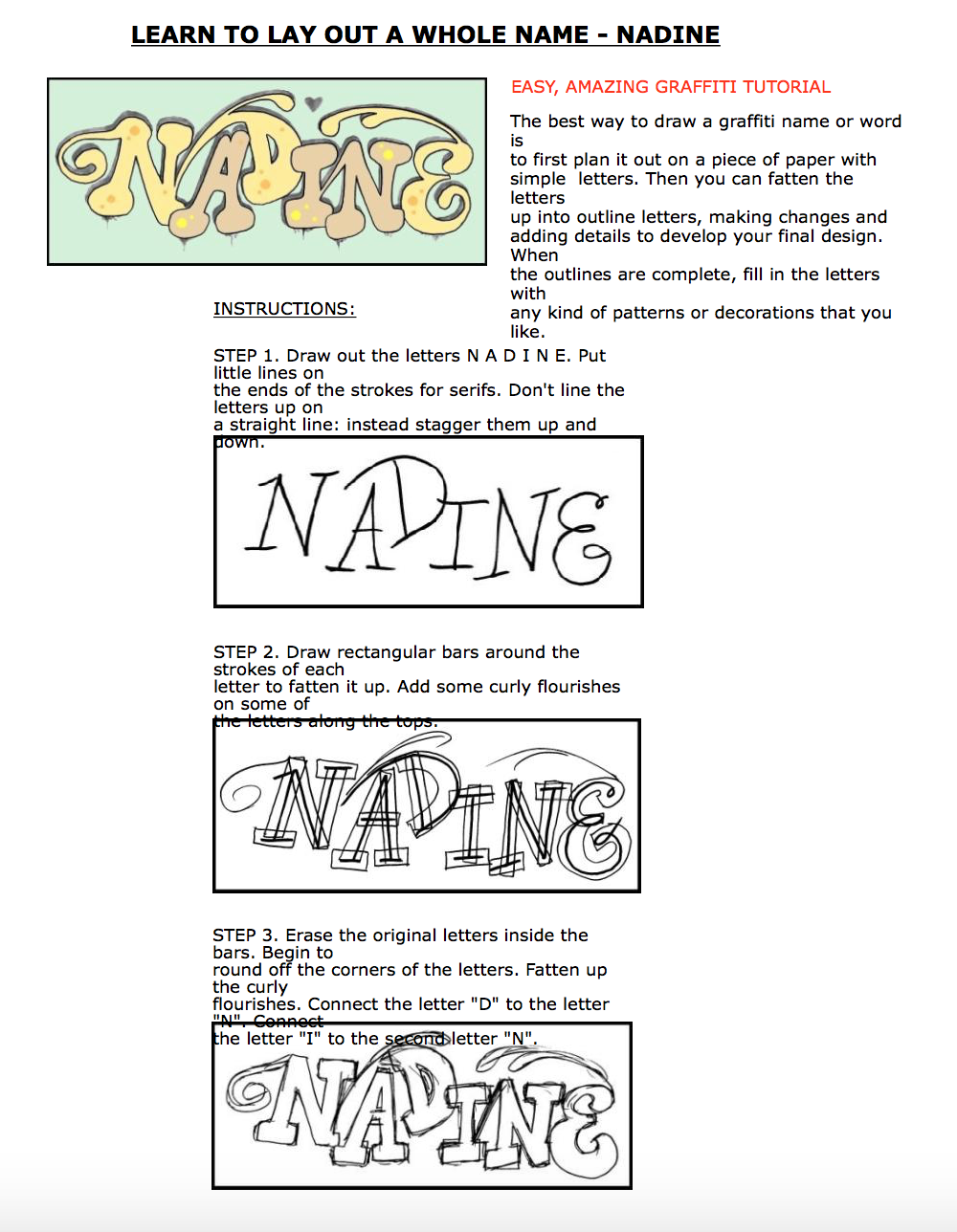 Art In The Classroom Lettering Styles