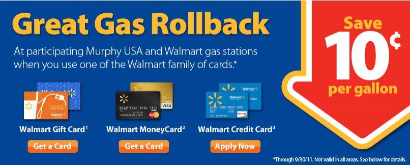 gas gift cards walmart