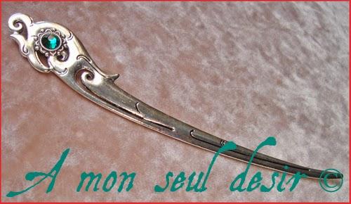 Pic à Cheveux Bijou Coiffure Médiéval Griffon Hippogriffe Renaissance Gryphon Medieval Hair Pin Stick