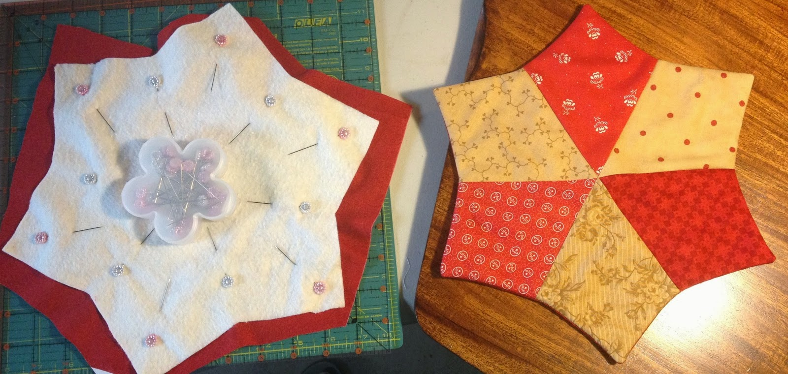 Design Originals By KC Candle Mats Finished Via Slow Stitching
