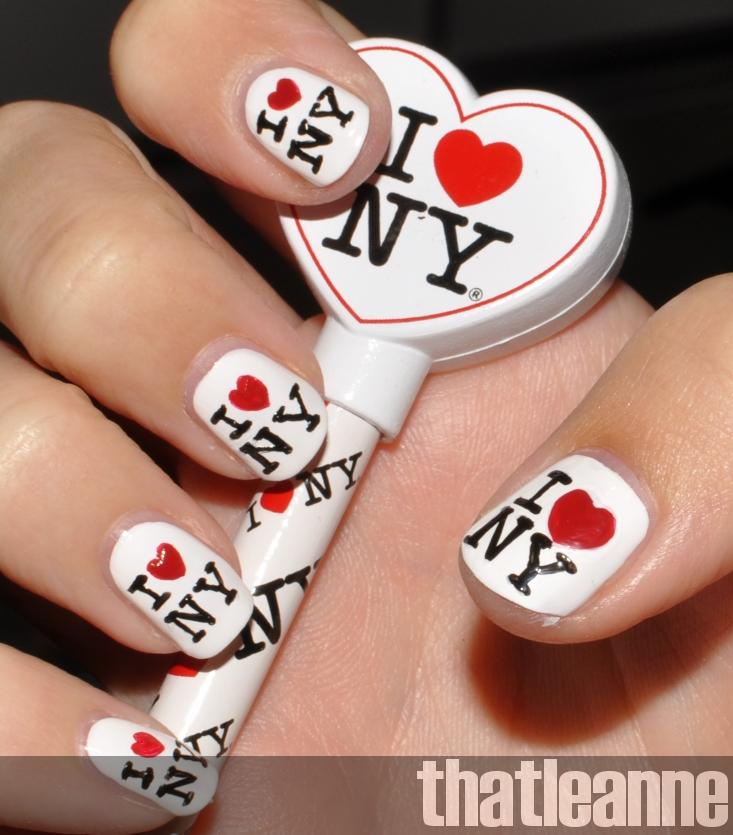 Thatleanne Chococat Nail Art: Thatleanne: I ♥ NY Nail Art
