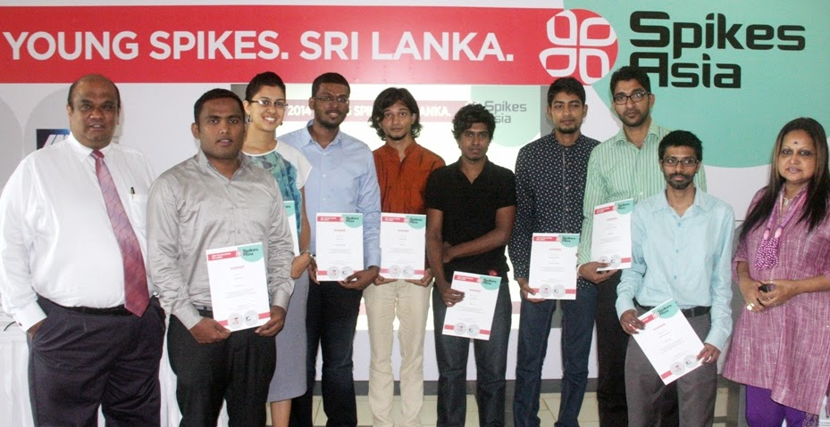 Ranil de Silva with the Young Lions Digital, Integrated, Media and Young Creative Academy winners with Laila Gunesekere