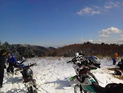 雪上トレッキング
