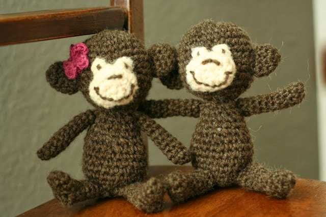 crochet monky pattern, free crochet pattern for a monkey