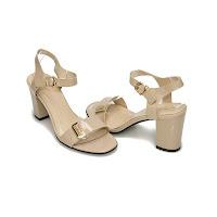 Sandale cu toc Modlet, nude, din colectia Essi