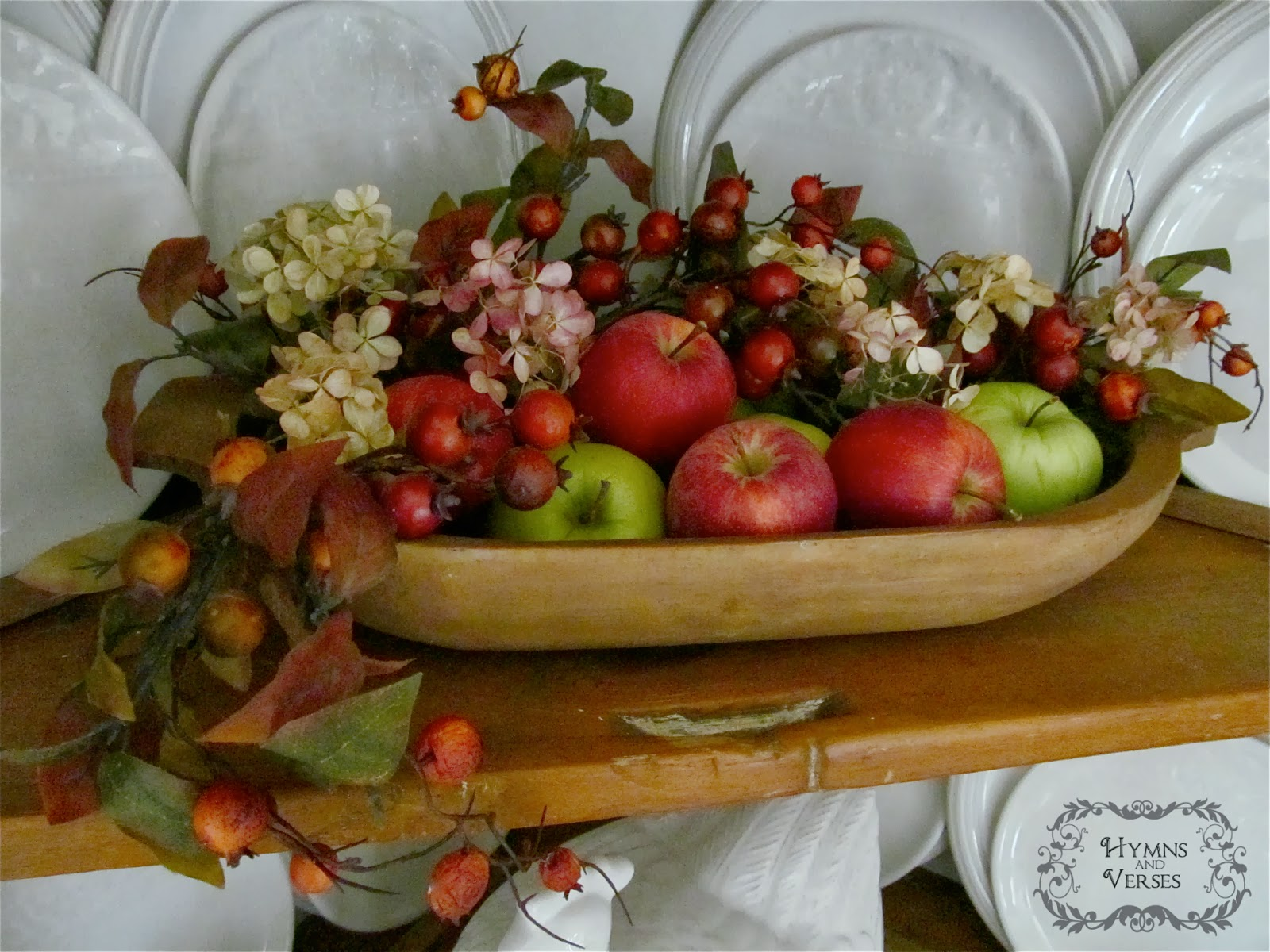Hymns and verses decorating with apples for fall for Apple decoration