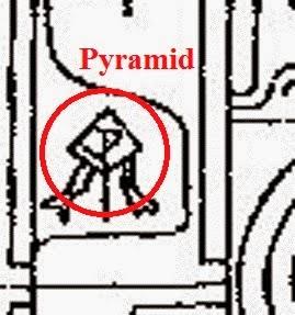 рисунок пирамиды на звездных вратах шри-ланки в аксонометрической проекции